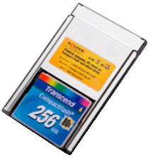 tarjeta compact Flash con adaptador PCMCIA
